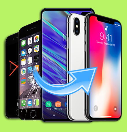 Repair & Replacement of Shattered/Broken LCD Screen, Digitizer, Battery, and/or Water Damage Repair for iPhone/iPod Touch, iPad/iPad Mini, Android Phones/Android Tablets & Amazon Tablets